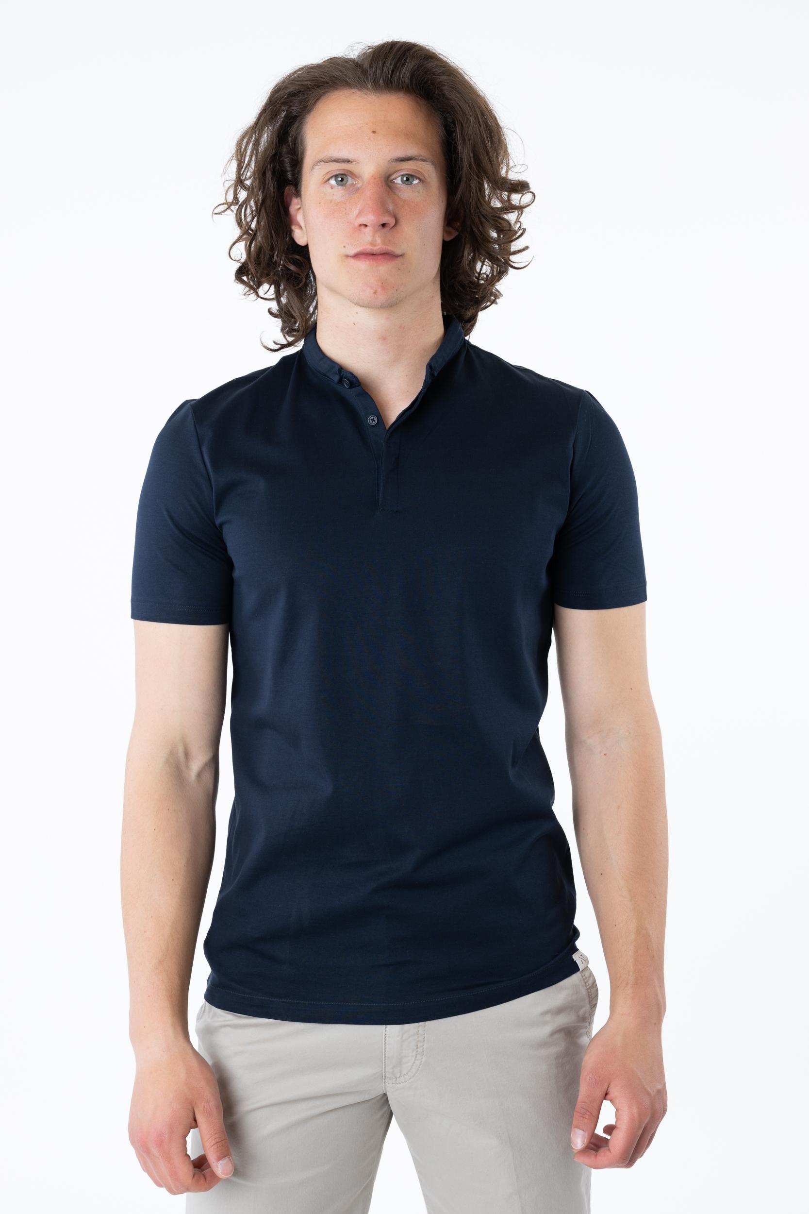 Poloshirt mit Minikragen