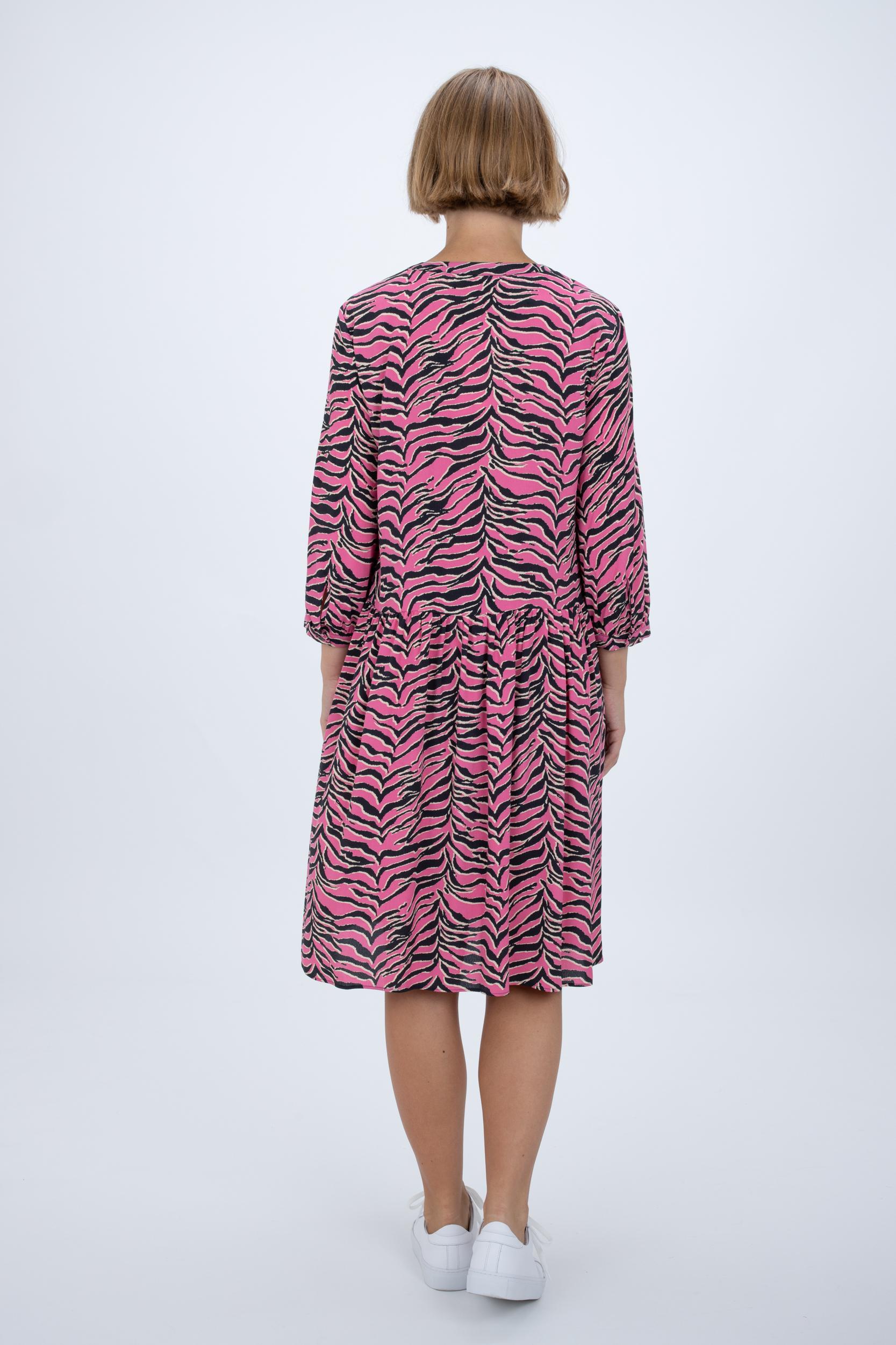 Midi-Kleid mit Tiger-Print
