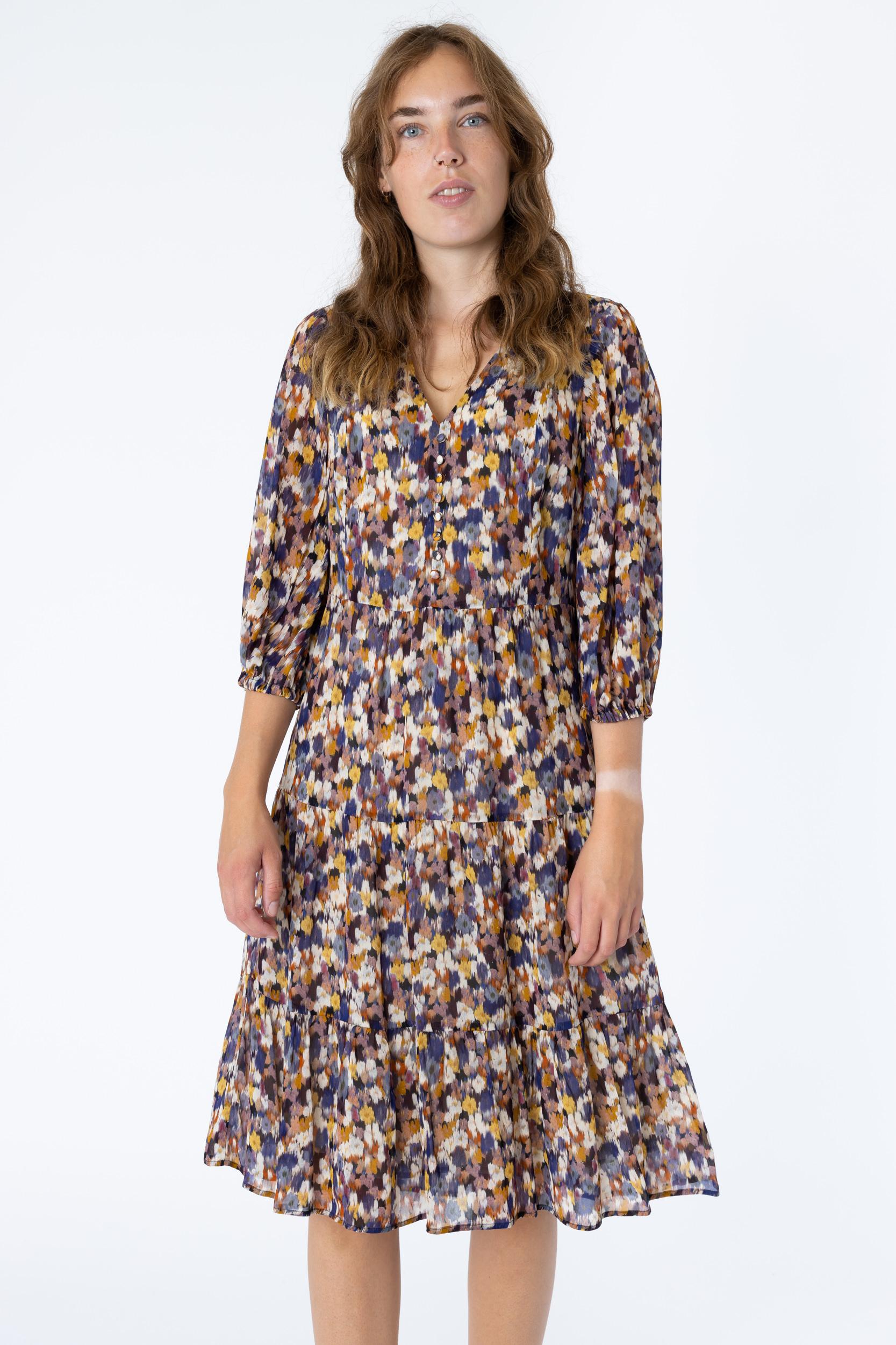Kleid mit Flurry Blossom Print