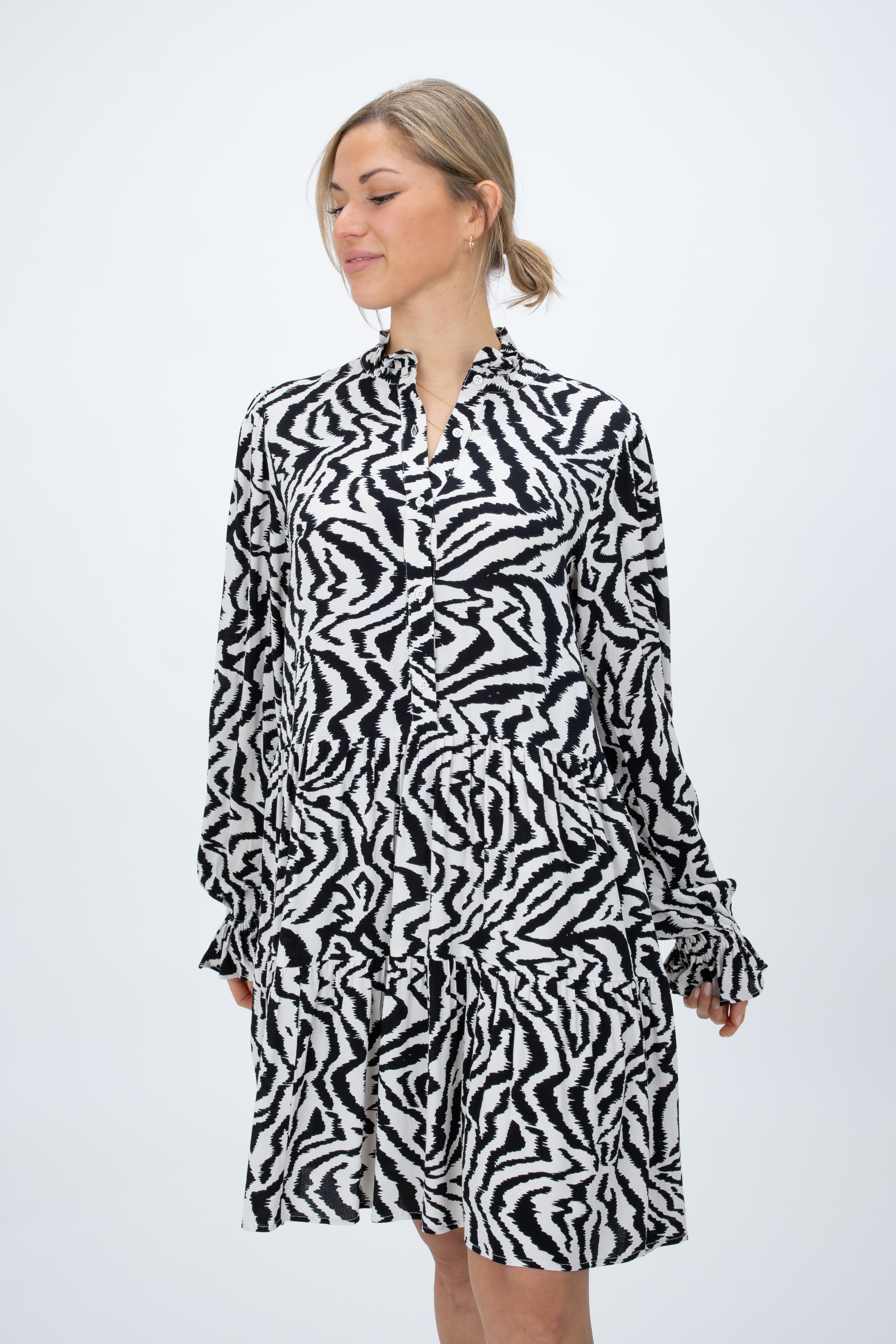 Kleid Zoku mit Zebra-Print