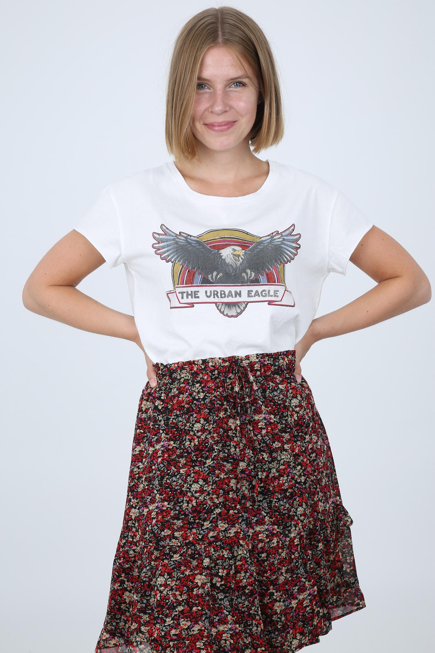 T-Shirt mit Band-Print