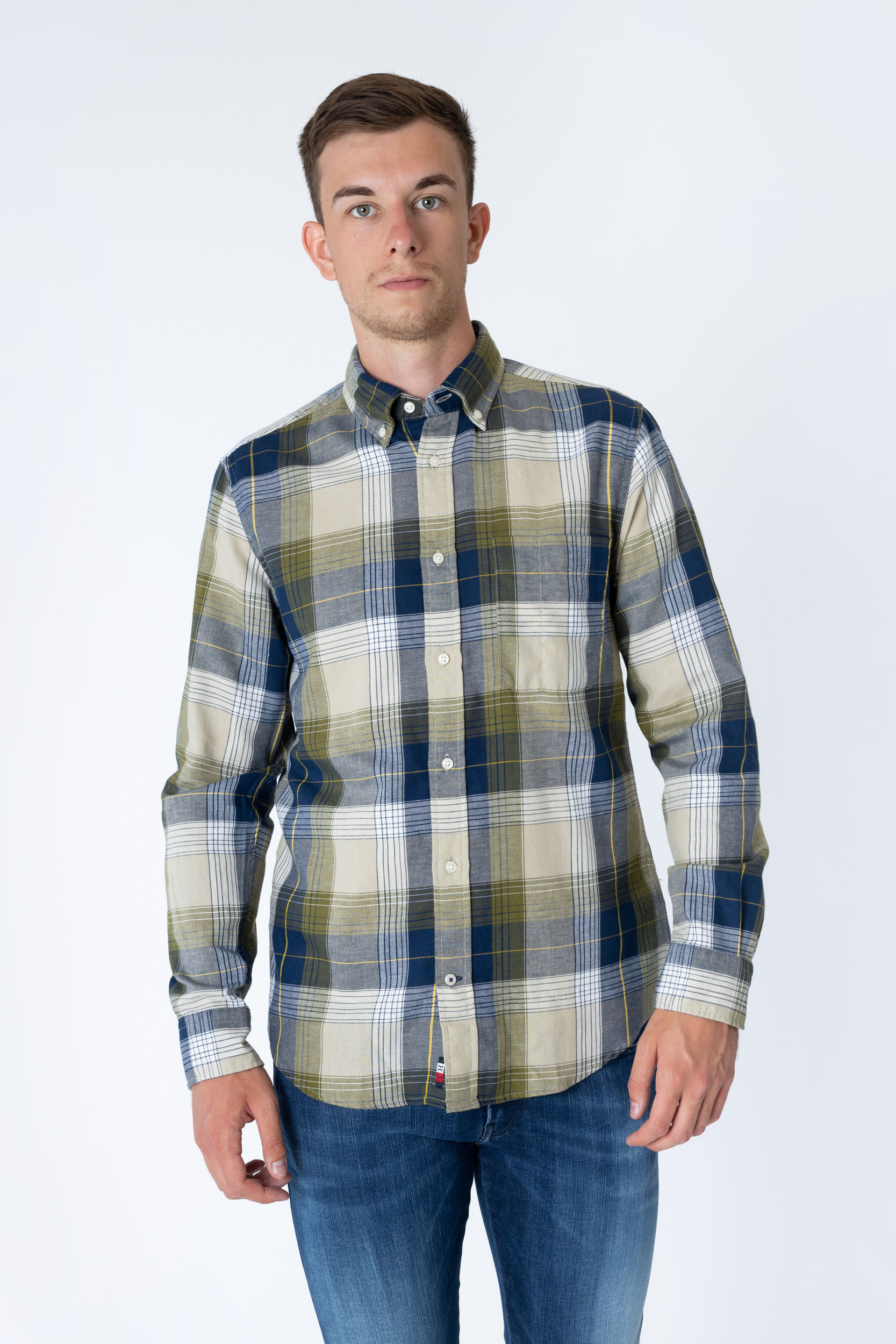 Hemd Cotton Linen Check