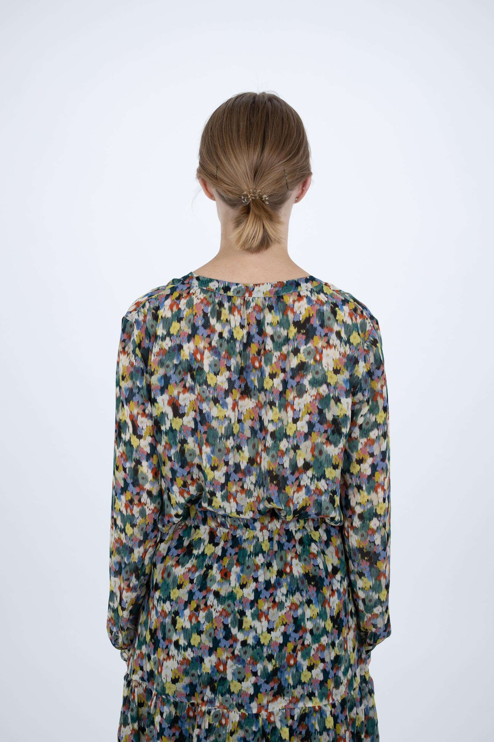 Bluse mit Blossom-Print