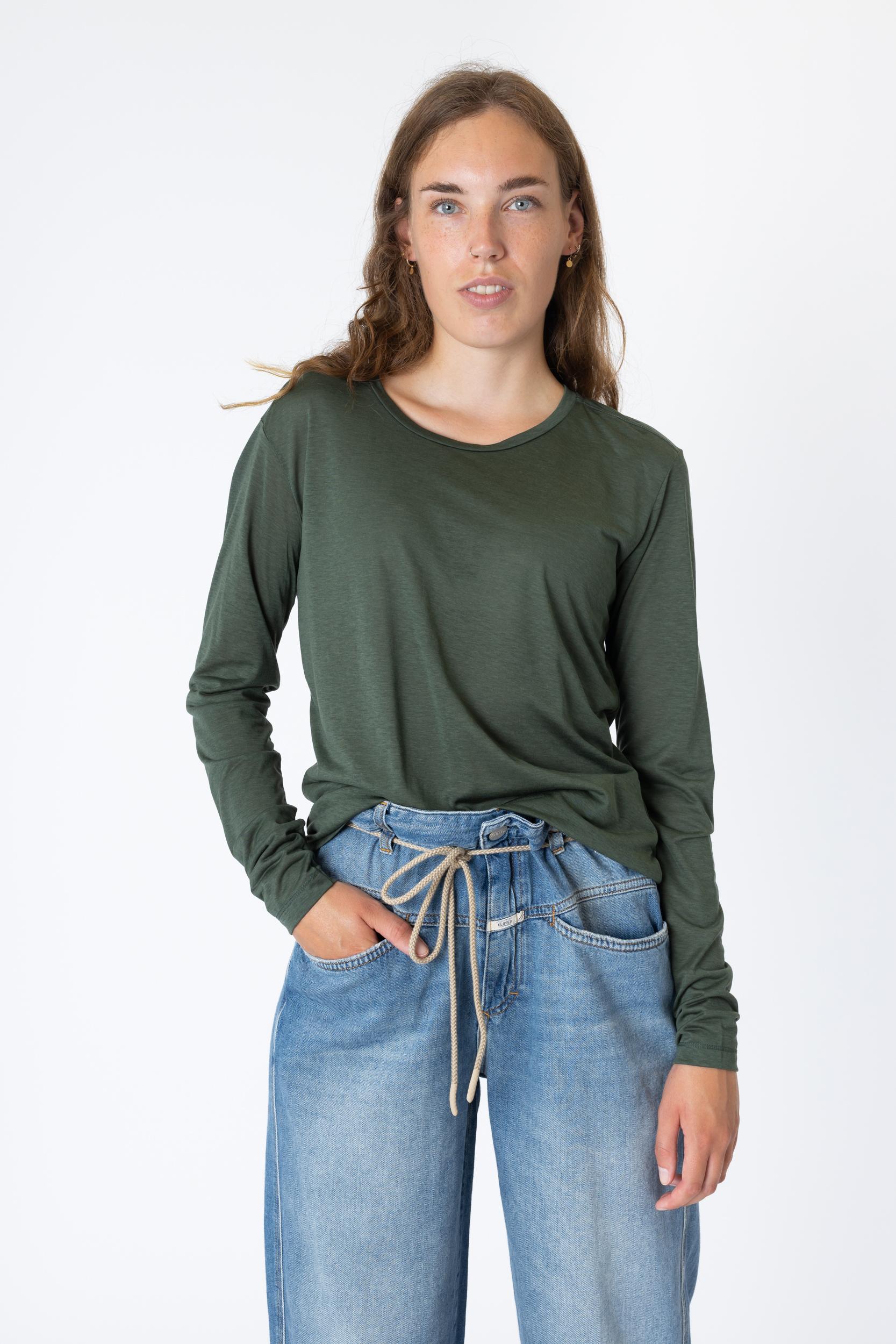 Langarmshirt aus Tencel
