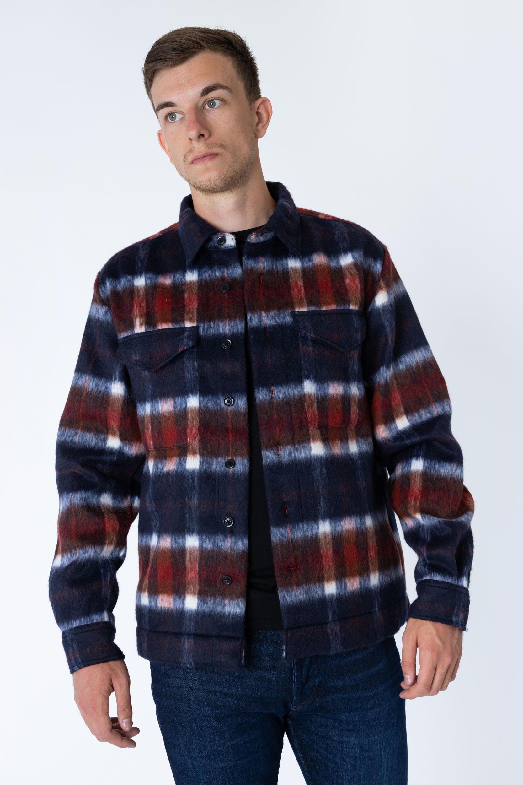Overshirt Wool Blend Check