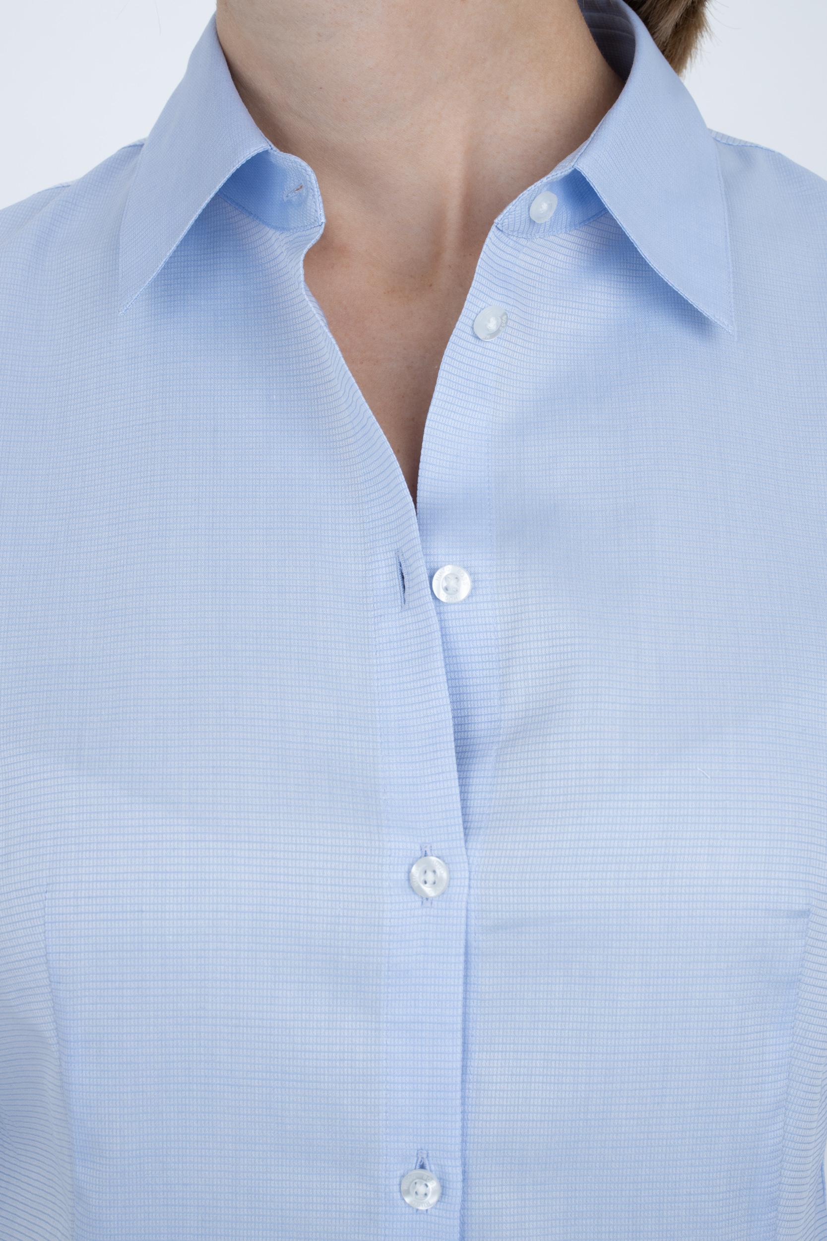 Bluse aus Baumwolle mit Spitzkragen