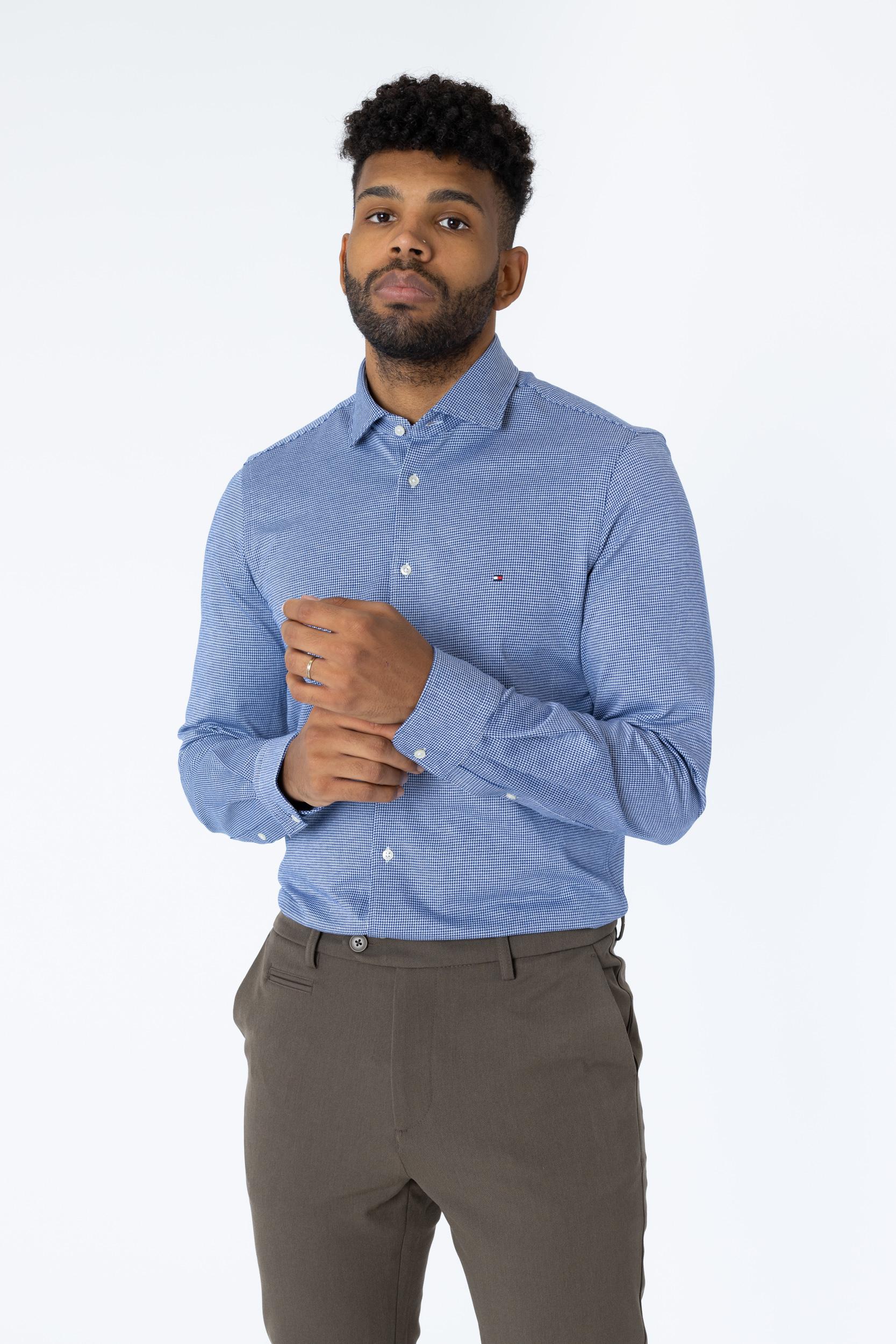 Hemd Single Jersey Houndstooth