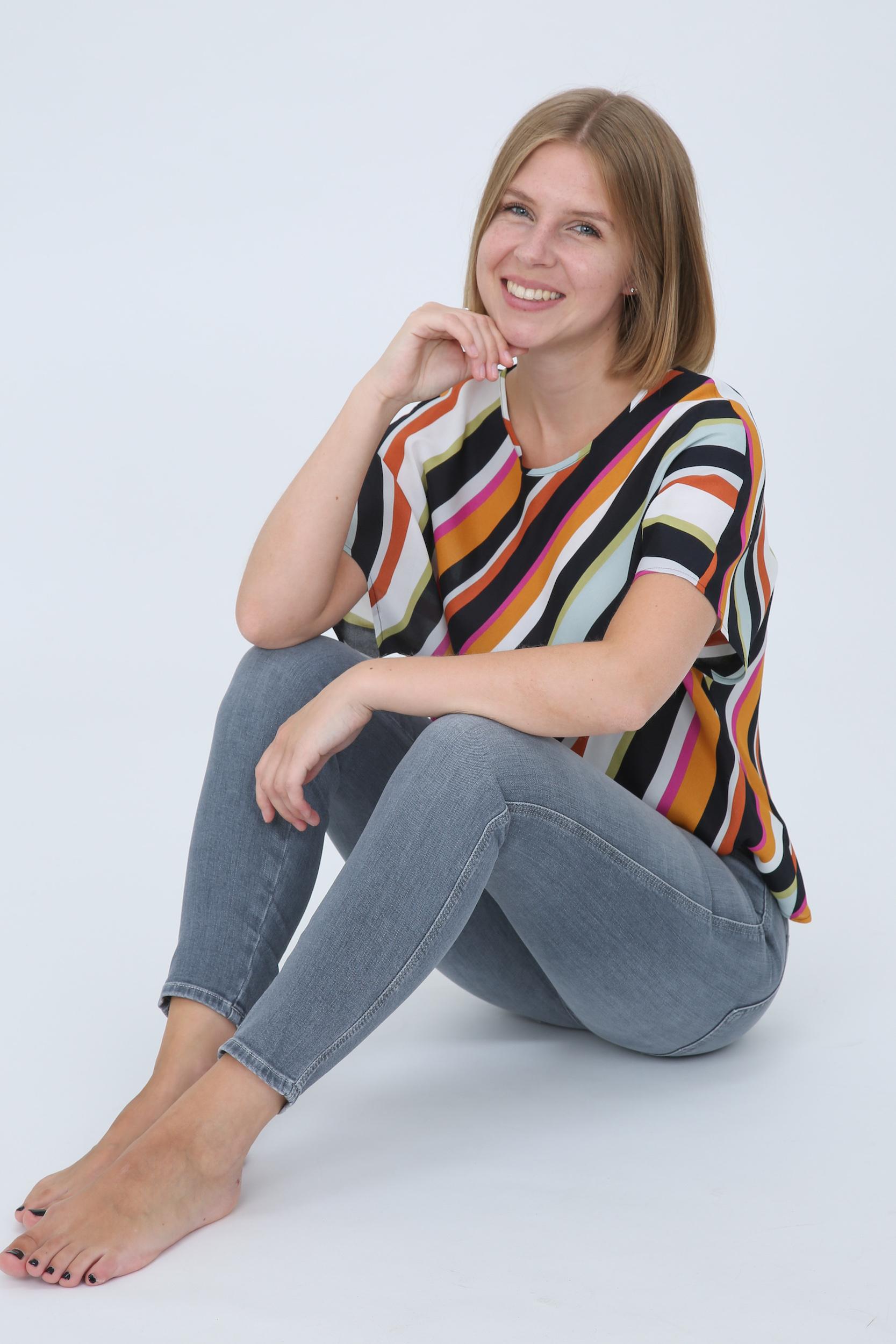 Bluse mit Multicolour-Streifen