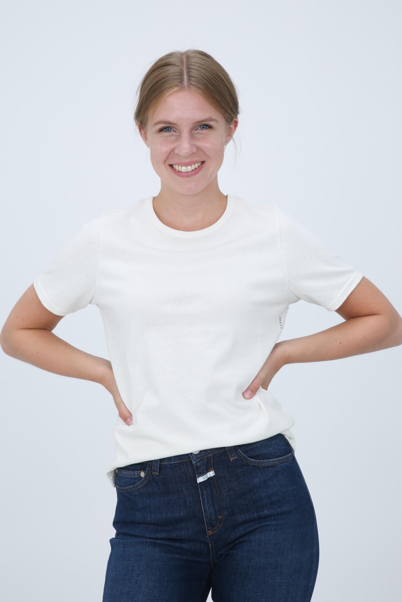 T-Shirt aus Baumwolle & Leinen