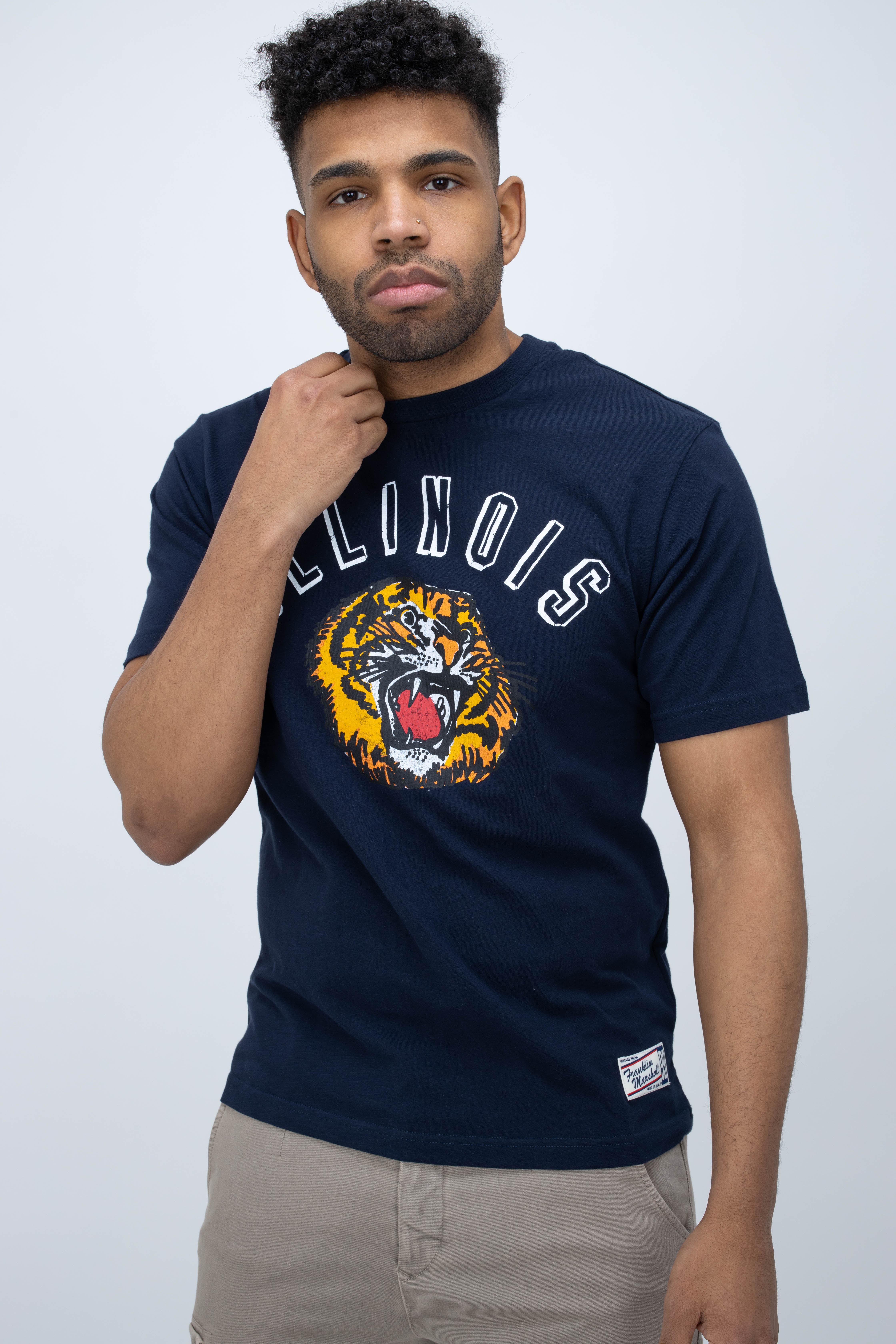 T-Shirt mit Illinois-Print