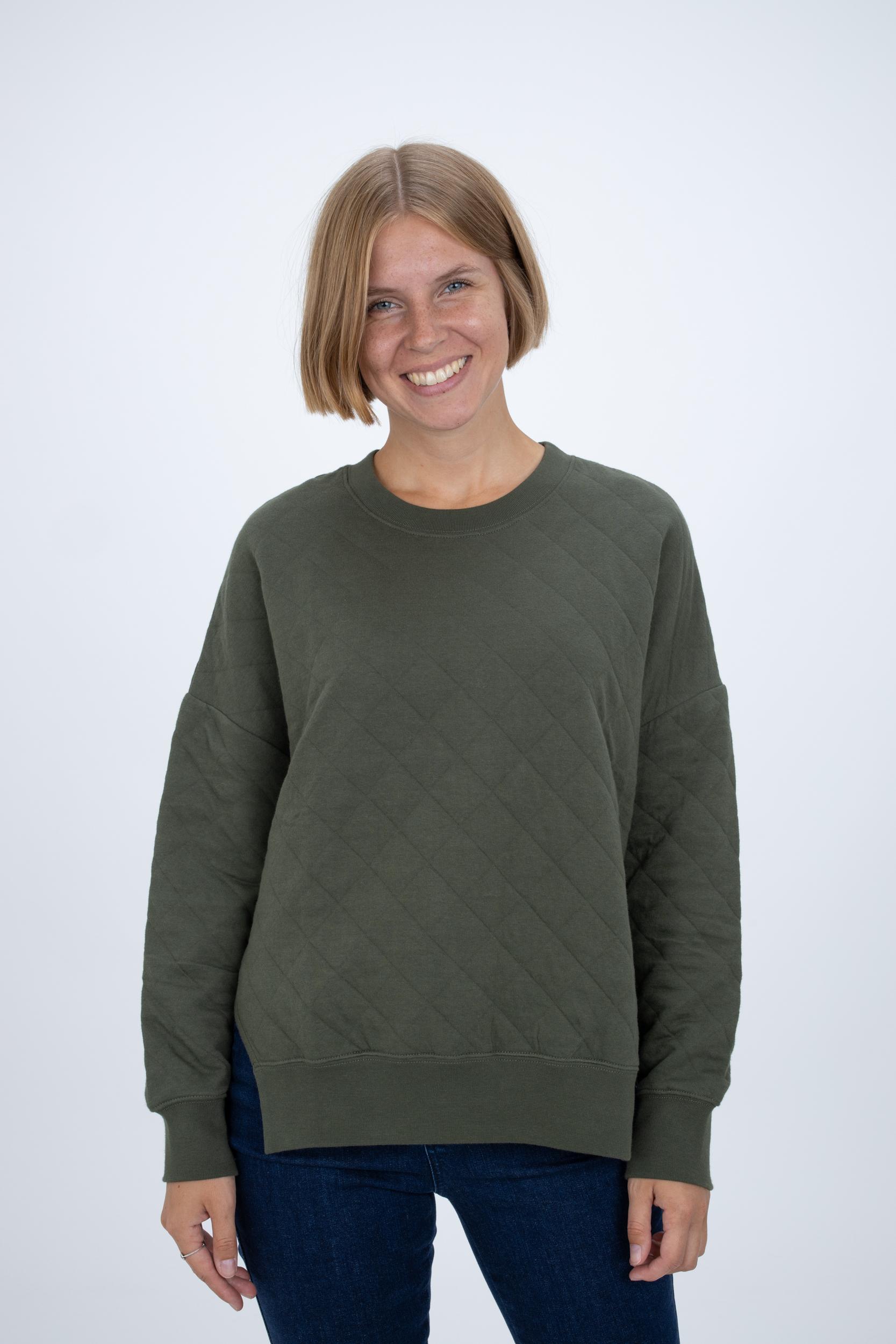Sweatshirt mit abgestepptem Rautenmuster