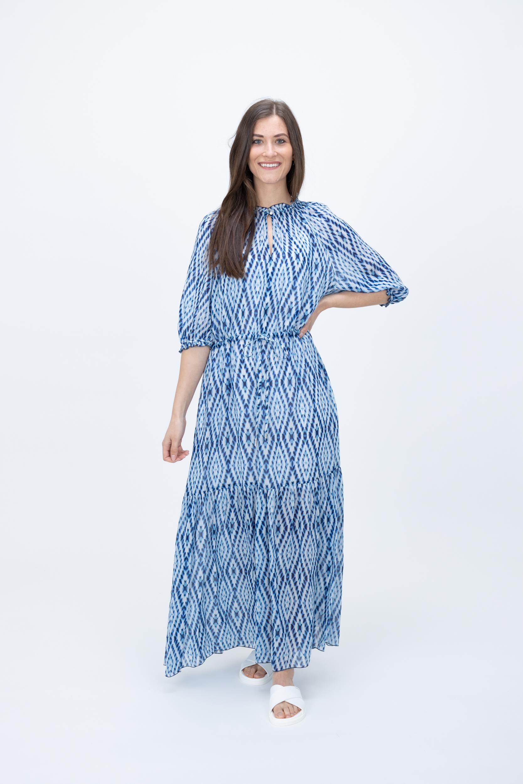 Maxi-Kleid mit Tie-Dye Print