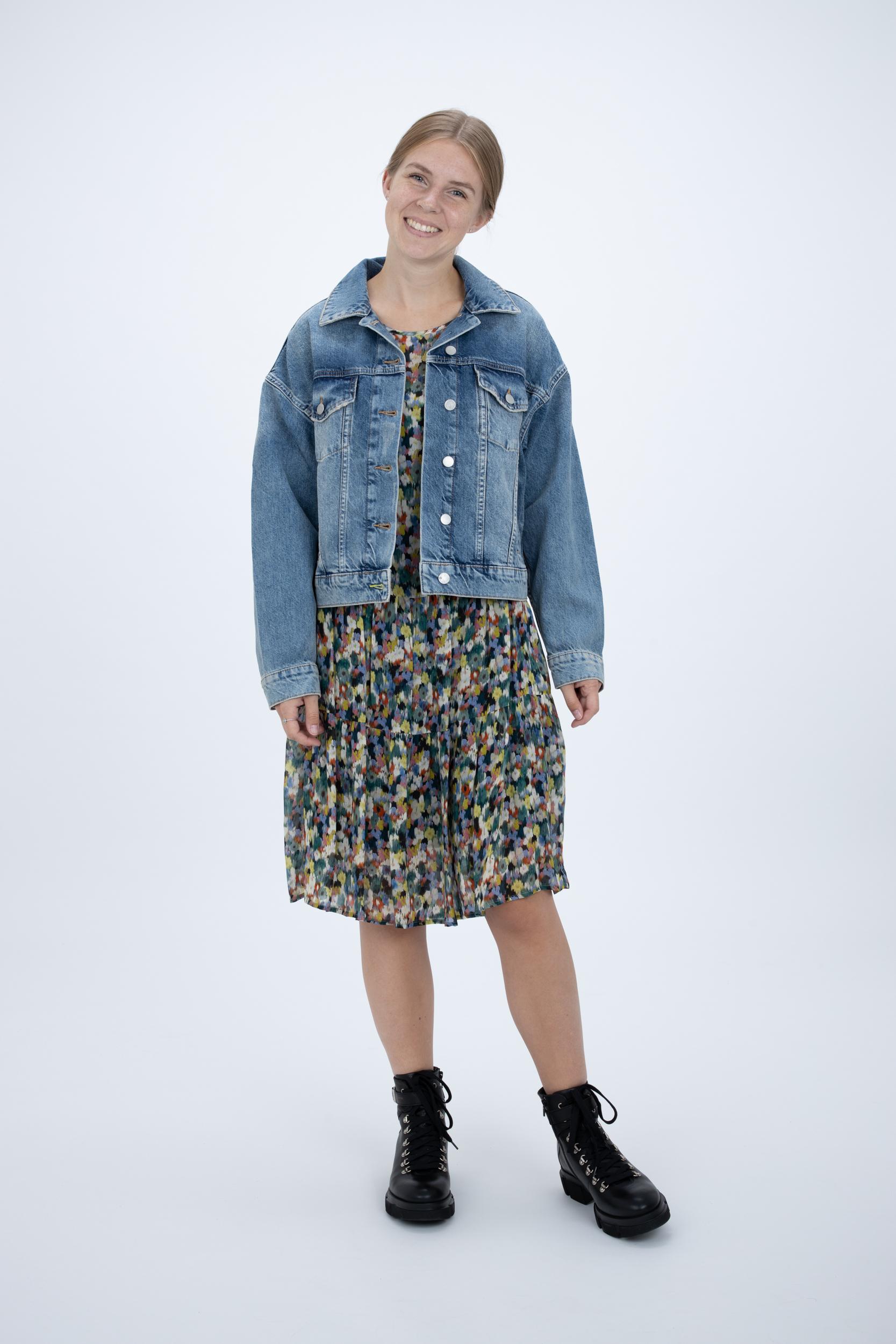 Jeansjacke mit weitem Fit