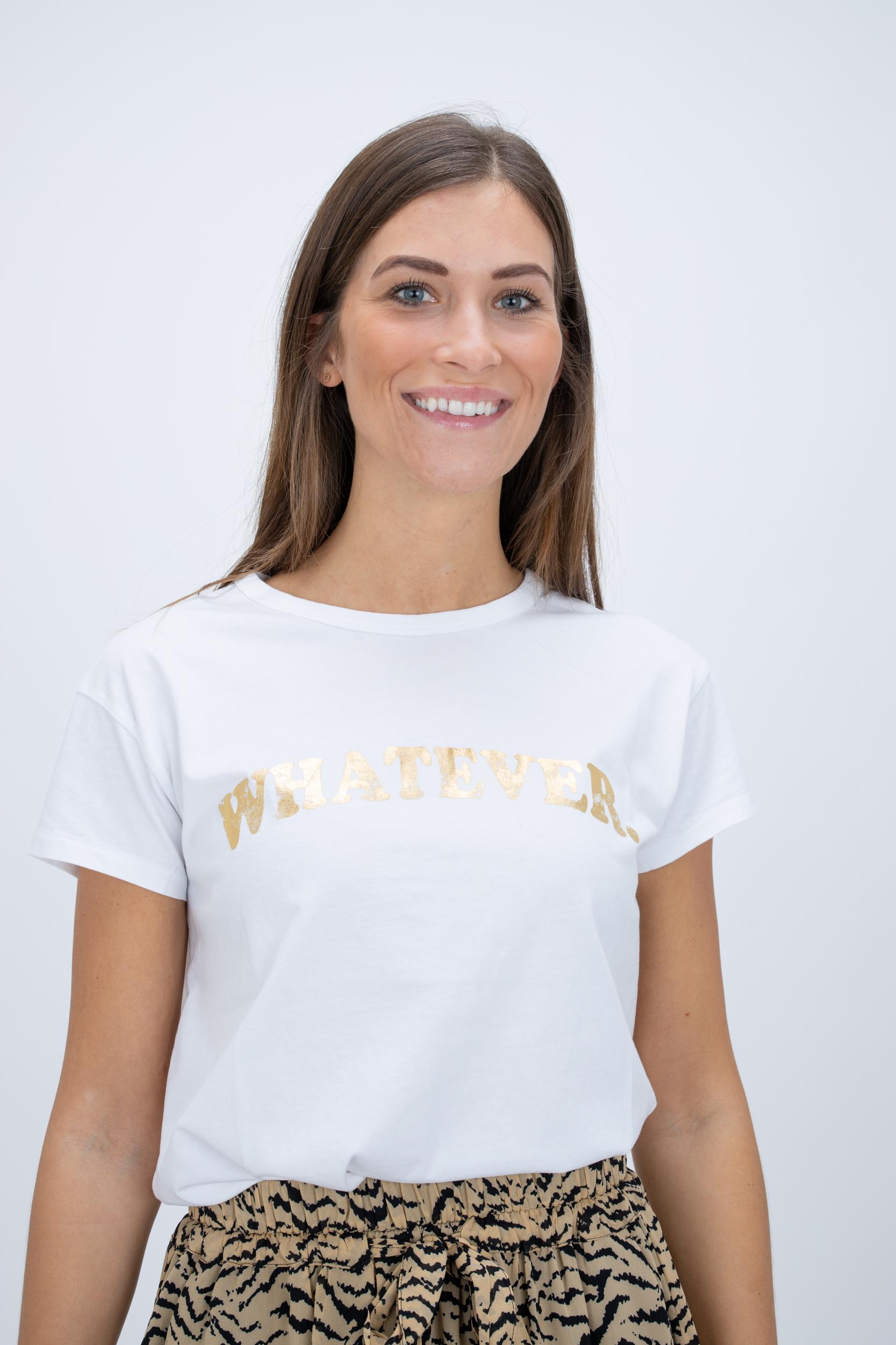 T-Shirt mit Gold-Print