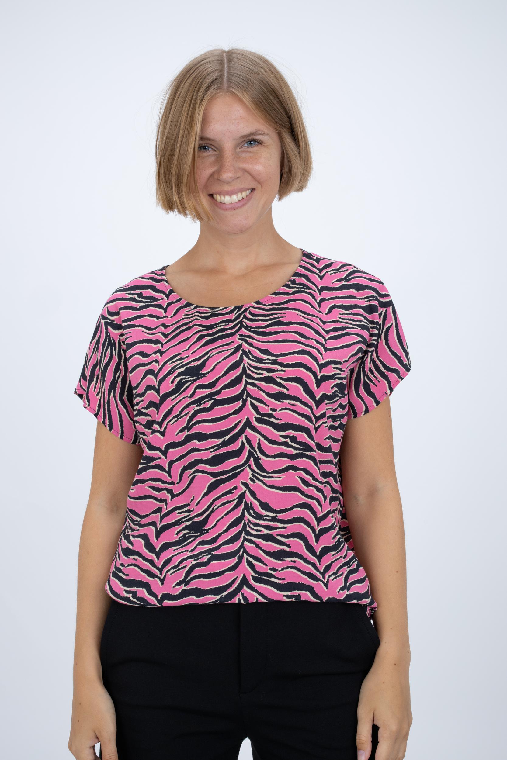 Shirtbluse mit Animalprint